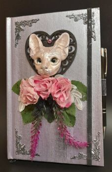 Lilac A5 Note Book & Pen - Pink Sphinx