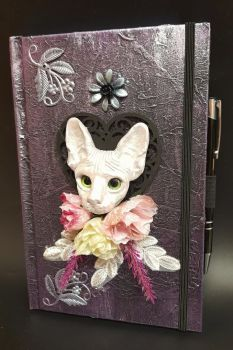 Purple A5 Note Book & Pen - Green Eyed Sphinx