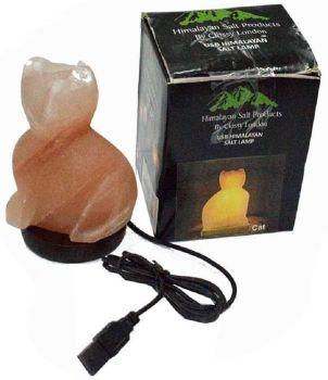 Cat Shaped Salt Lamp - USB -14cm