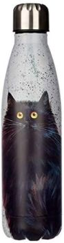Kim Haskins Black Cat Reusable Stainless Steel Hot & Cold Thermal Insulated Drinks Bottle 500ml