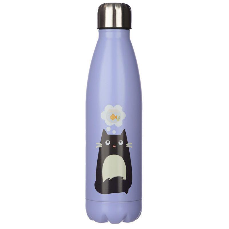 Feline Fine Cat Stainless Steel Hot & Cold Drinks Bottle 500ml