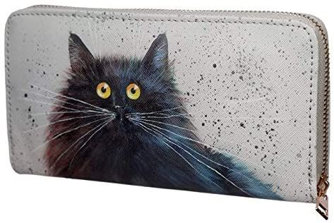 Kim Haskins Cat Zip Around Large Wallet Purse