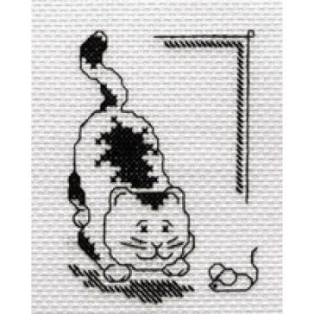 Cat and Mouse Counted Cross Stitch Kit