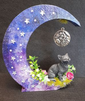 Black Cat On Moon - A WAS £17.50