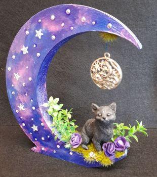 Black Cat On Moon - B WAS £17.50