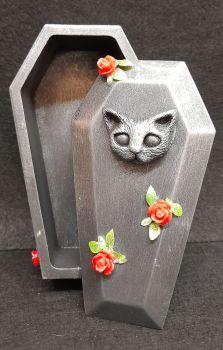 Cat Kitty Coffin Trinket Box