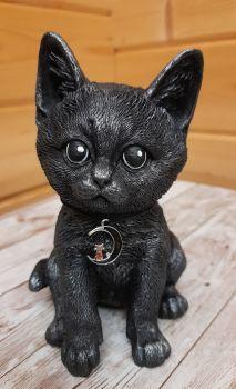 Hand Painted Little Black Cat