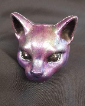 Cat Head - Purple Cat
