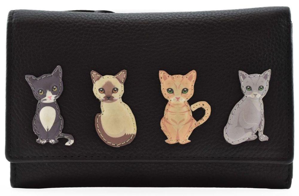 Best Friends Sitting Cat Tri Fold Purse - RFID