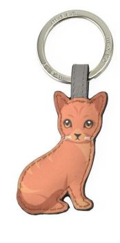 Mala Leather Best Friends Sitting Keyring V2- Ginger