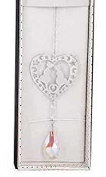 Cat Suncatcher - 3D Crystal Suncatcher - Cats In Heart - Pink