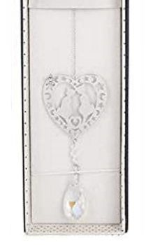 Cat Suncatcher - 3D Crystal Suncatcher - Cats In Heart - Clear