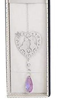 Cat Suncatcher - 3D Crystal Suncatcher - Cats In Heart - Lilac