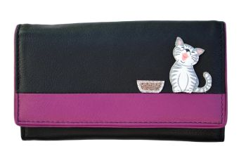 Ziggy Cat Flap Over Purse - BLACK