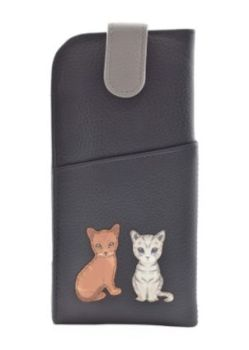 Best Friends Sitting Cats Glasses Case - Ginger & Tabby