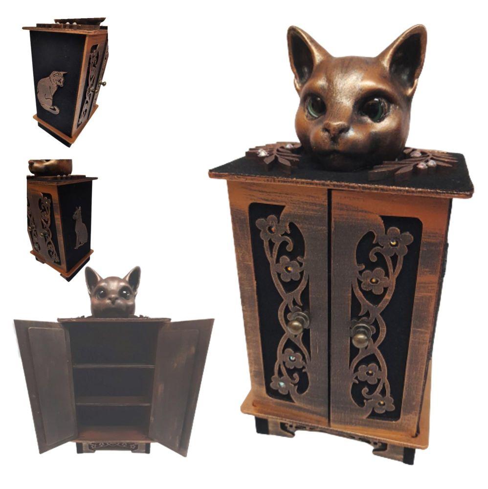 Little Cat Curio Cupboard