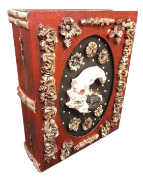 Cat On Moon - Red & Gold- Book Storage Box was £25.00