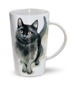 Little Black Cat Latte Mug