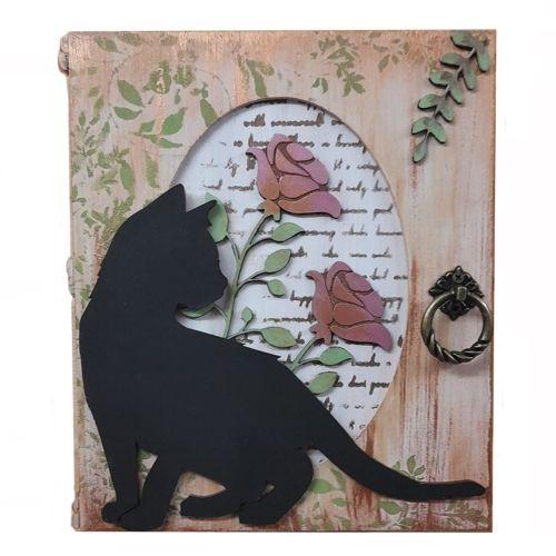 Black Cat Key Box - Wall Mounted