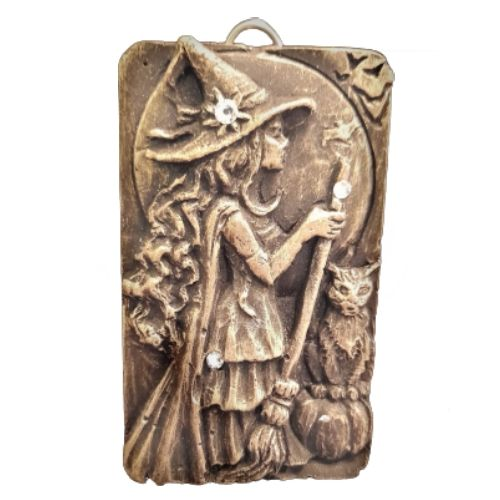 Black & Gold Witches Plaque