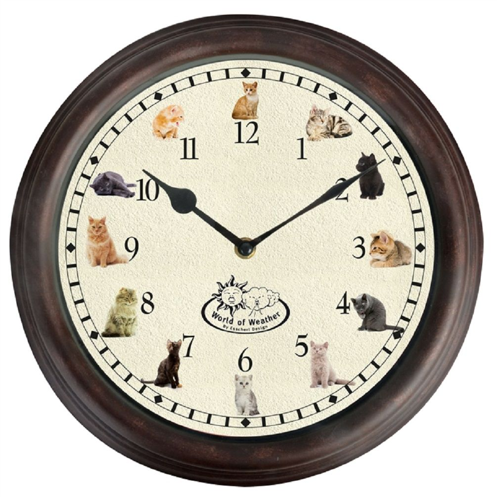 Cat Sounds Round Wall Clock