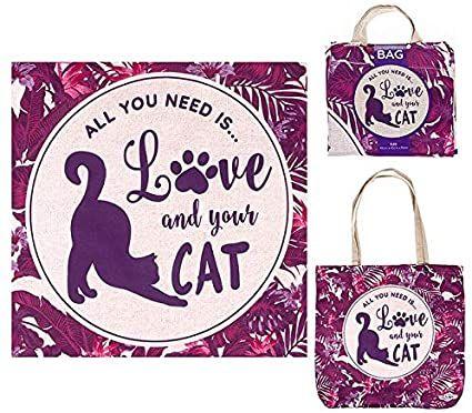 Love & a Cat Tote Bag