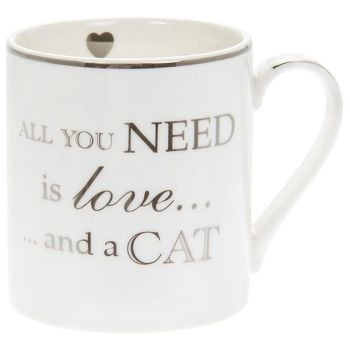 All You Need is Love and a Cat Fine China Mug