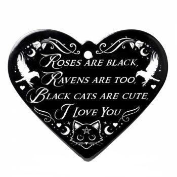 Black Cat Roses Trivet