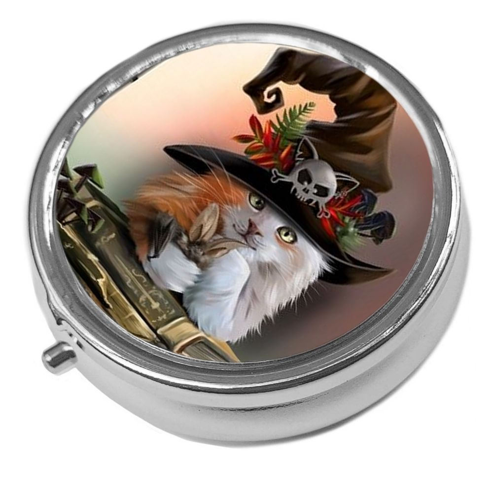 Magic - Metal Pill Box - Cat Trinket Box