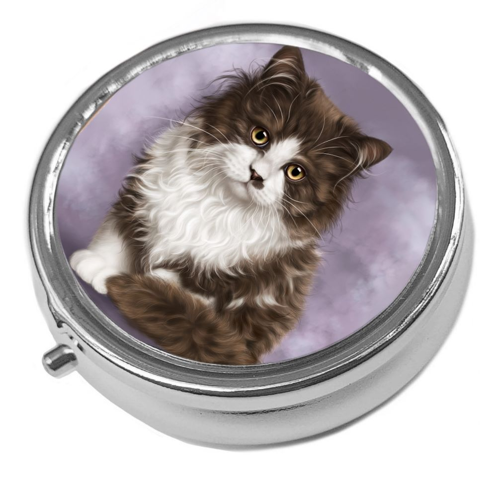 Primrose - Metal Pill Box - Cat Trinket Box