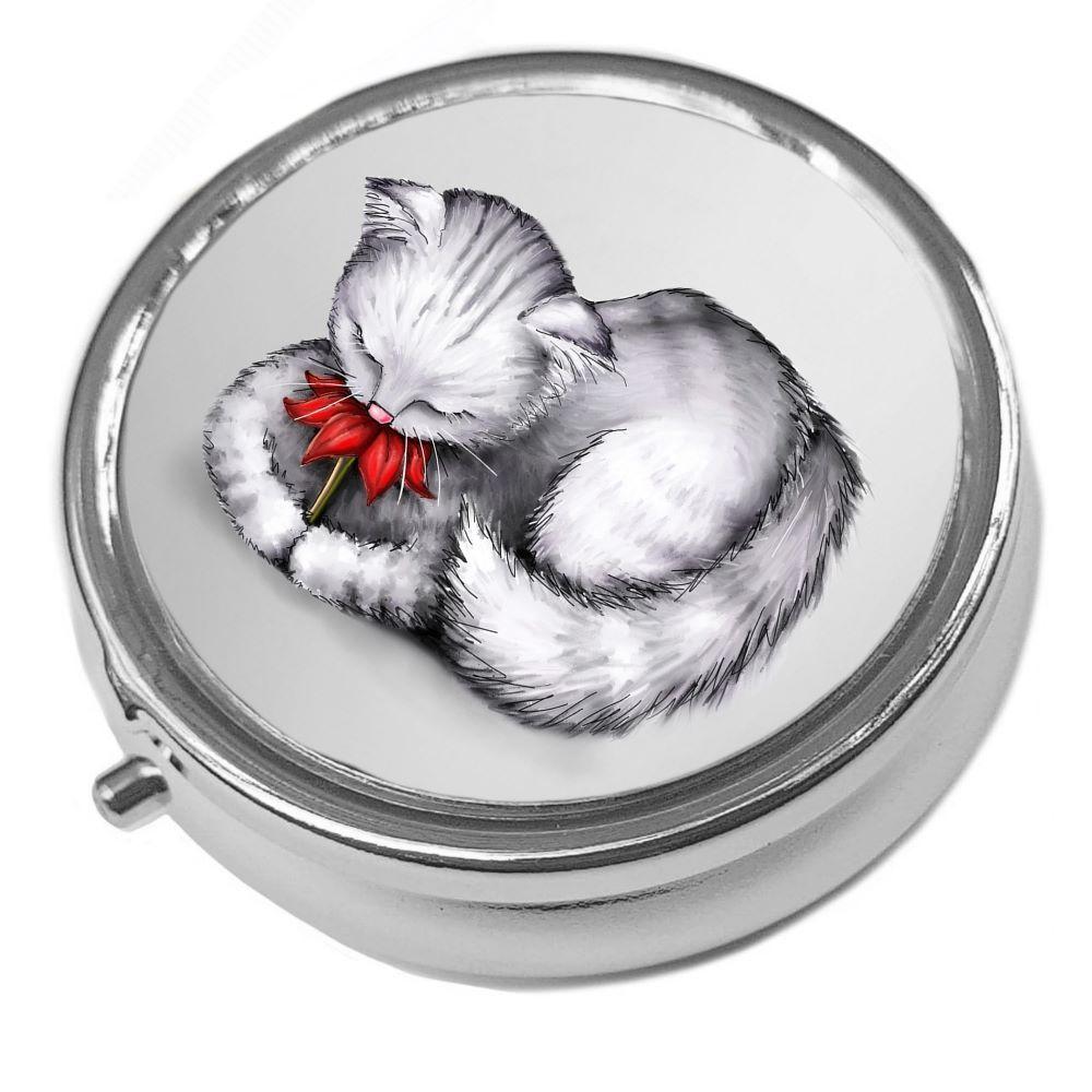Petal - Metal Pill Box - Cat Trinket Box