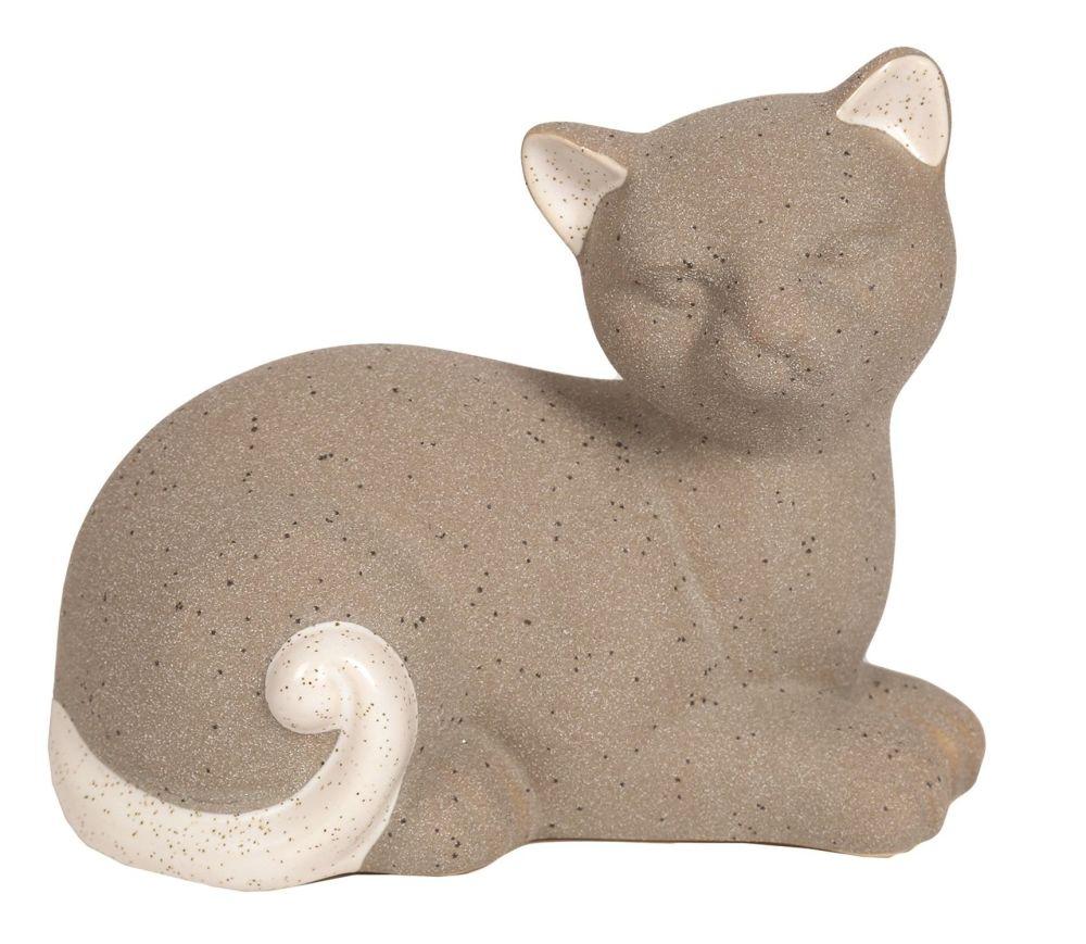 26555 - Grey Lying Cat Figurine