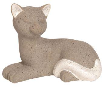 26556 - Grey Lying Cat Figurine