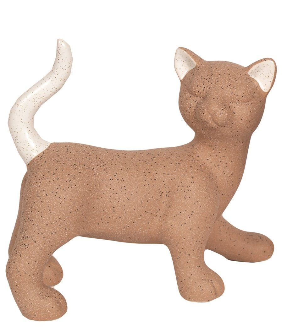 26558 - Standing Brown Cat Figurine (Looking Right)