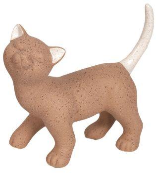 26558 - Standing Brown Cat Figurine (Looking Left)