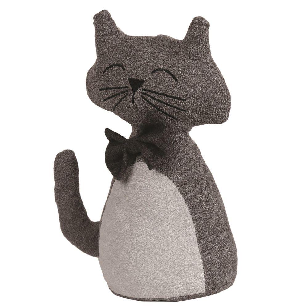 26715 - Sitting Cat Doorstop - Bow Tie