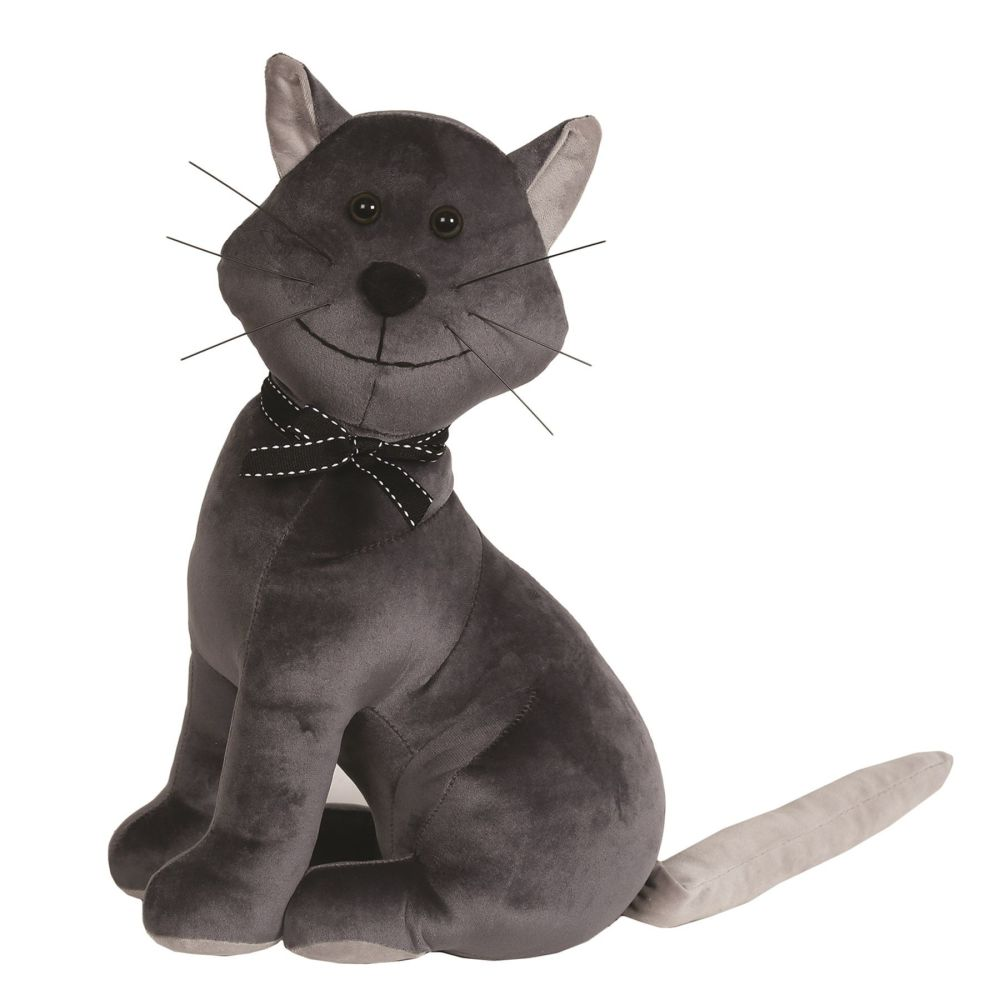 27484 - Sitting Cat Doorstop - Grey Cat