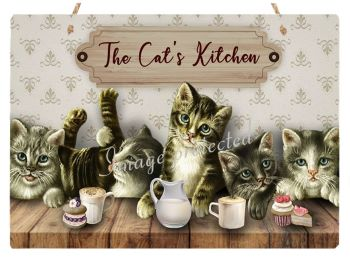 Hanging Metal Sign - Cat's Kitchen