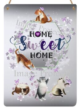 Hanging Metal Sign - Home Sweet Home