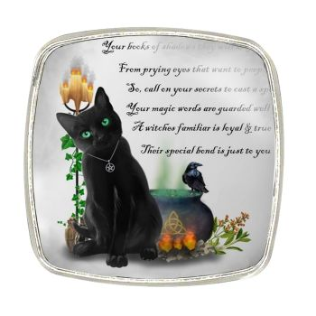 Chrome Finish Metal Magnet - A Witches Familiar
