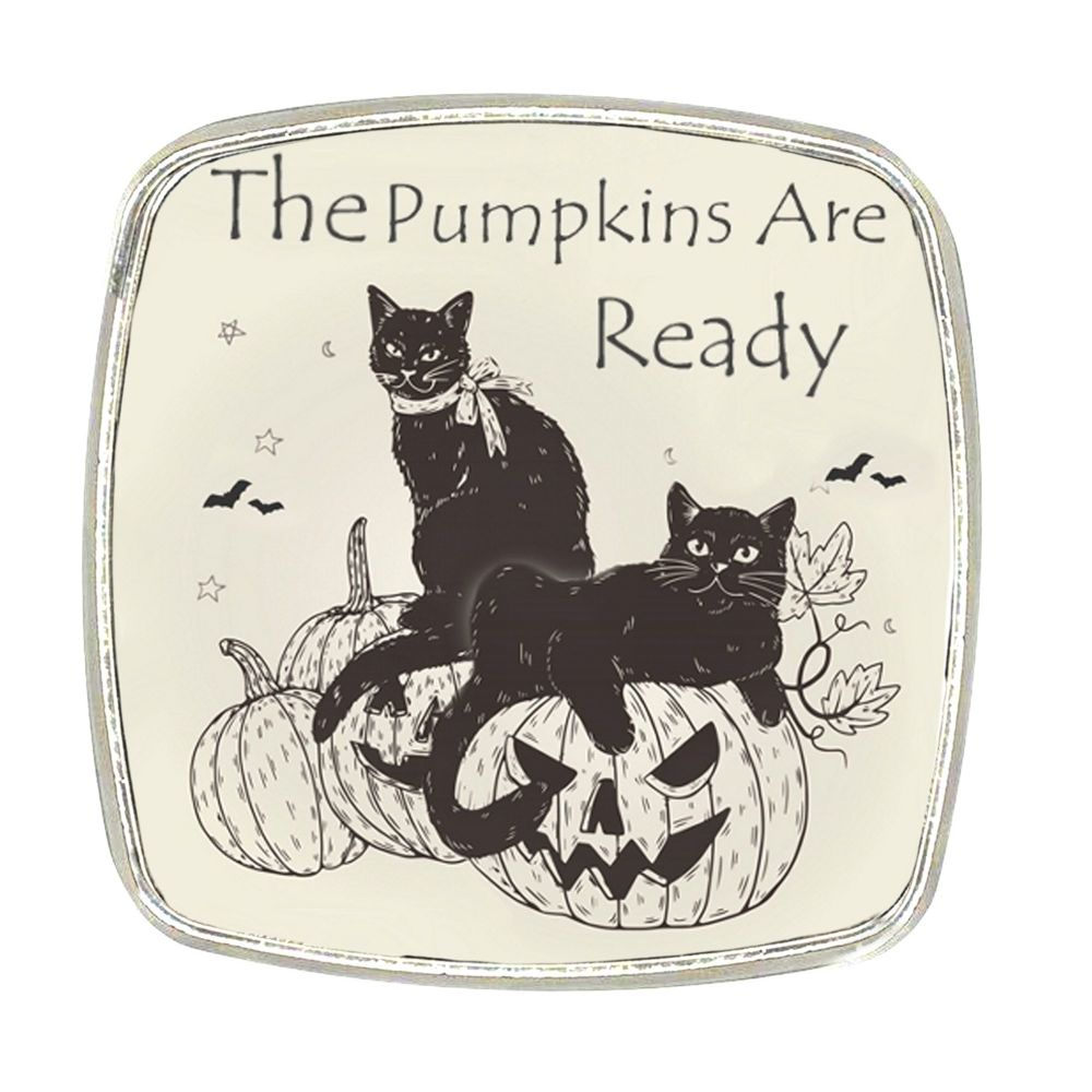 Chrome Finish Metal Magnet - The Pumpkins Are Ready