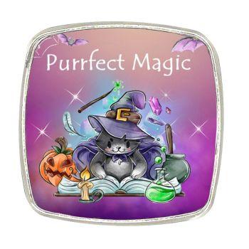 Chrome Finish Metal Magnet - Purrfect Magic