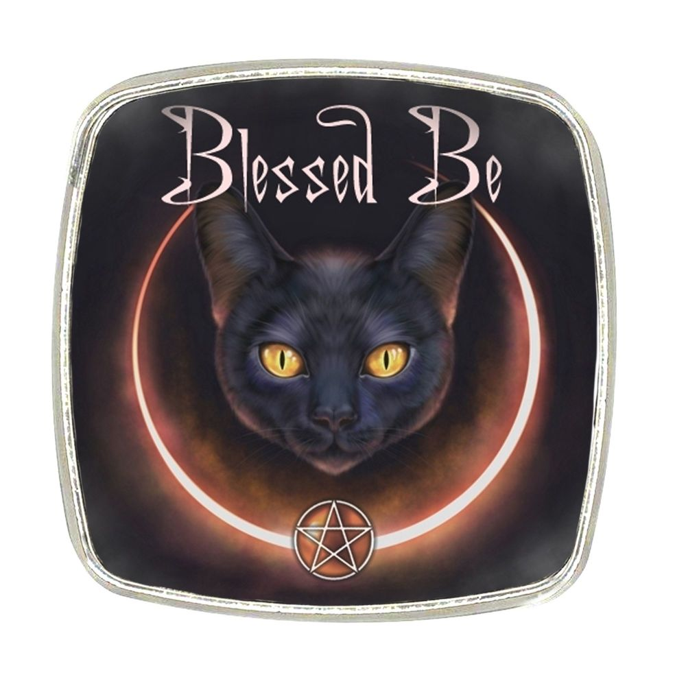 Chrome Finish Metal Magnet - Blessed Be