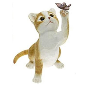 Mischief Ginger Cat with Butterfly