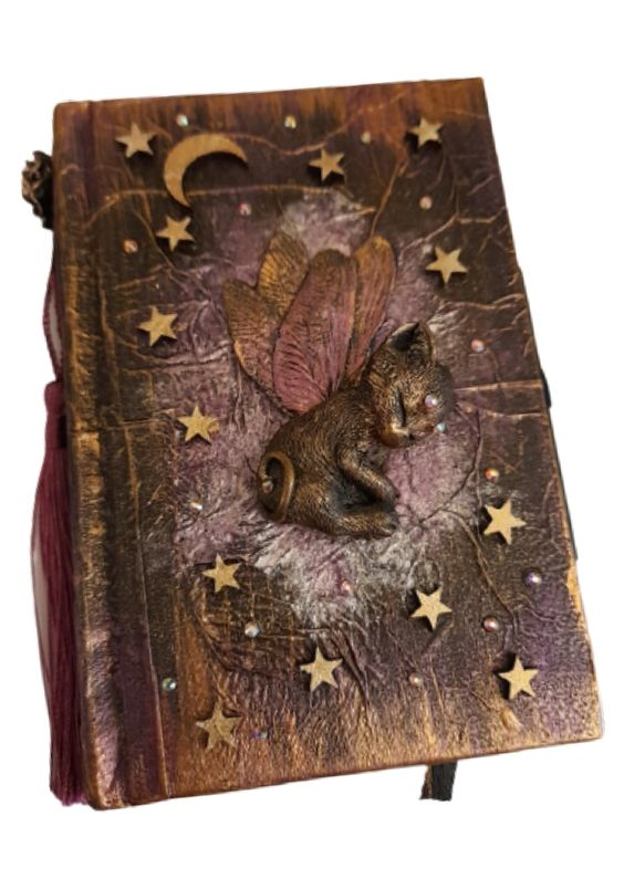 Sleeping Dragonfly Kitten Hardbacked Journal & Pencil