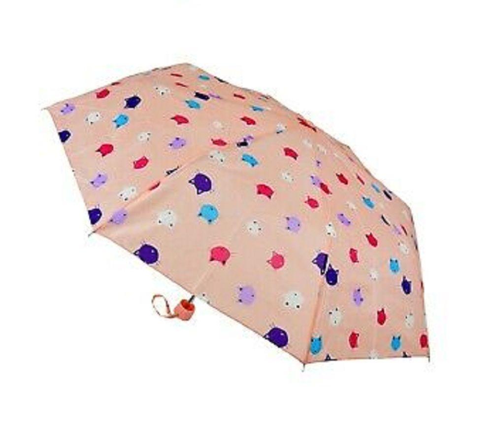 Super Mini Cat Umbrella - Pink/Multi Colour Cat Heads