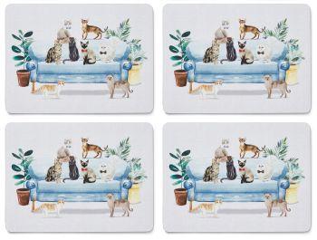 Cooksmart Curious Cats (Placemats Set Of 4)