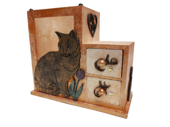 Cat & Tulip, 2 Drawer Storage Unit