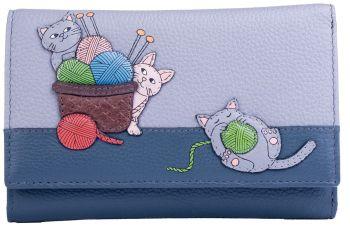 Knitting Cats Tri Fold Purse RFID -  354253