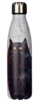 Kim Haskins Black Cat Reusable Stainless Steel Hot & Cold Thermal Insulated Drinks Bottle 500m